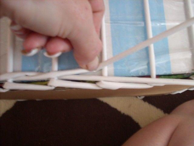Moje pletení z papíru - Fotoalbum - NÁVOD - VZORY PLETENÍ - NÁVOD - NA OPLETEK DVĚMA