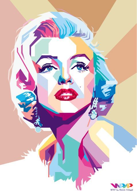 Marilyn Monroe - WPAP Vector Portrait