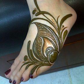 نقش حناء للقدم صالون رشنا للحناء #henna