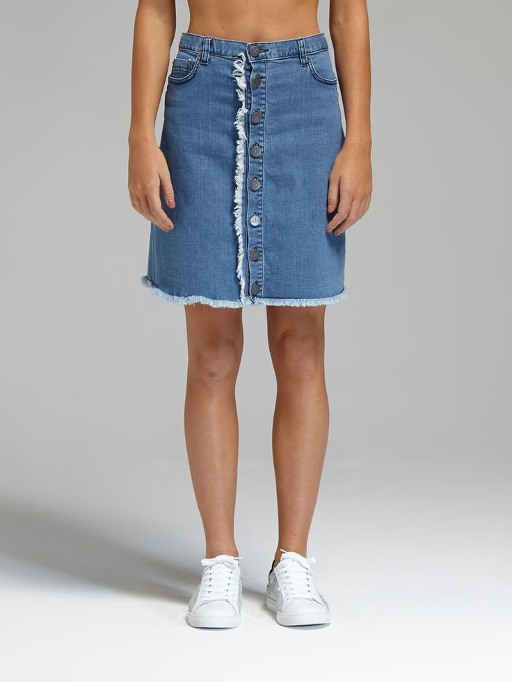 N / Nicholas - Denim Button Up Mini Skirt