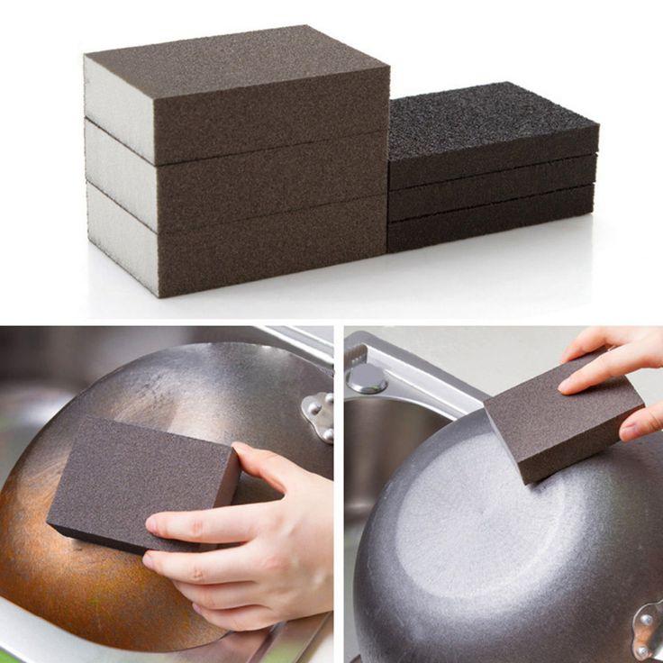Corindón Alúmina Nano Limpieza Esponja Mágica Cocina Lavado de Limpieza esponjas esponja super limpio borrador accesorios para la cocina