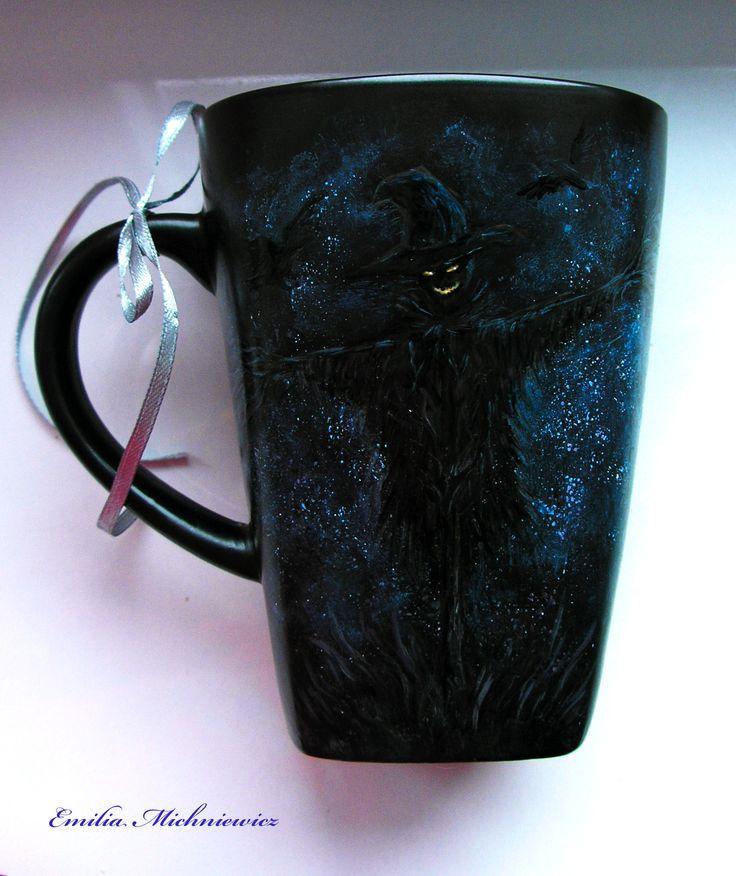 Hand paited porcelain - Scarecrow www.facebook.com/EMsilverART