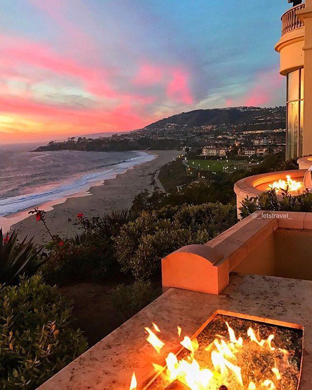 Sunset at ✨✨@ritzcarlton✨✨ Laguna Niguel - California ✨❤️❤️❤️✨ #rcmemories . Pic by @_letstravel_