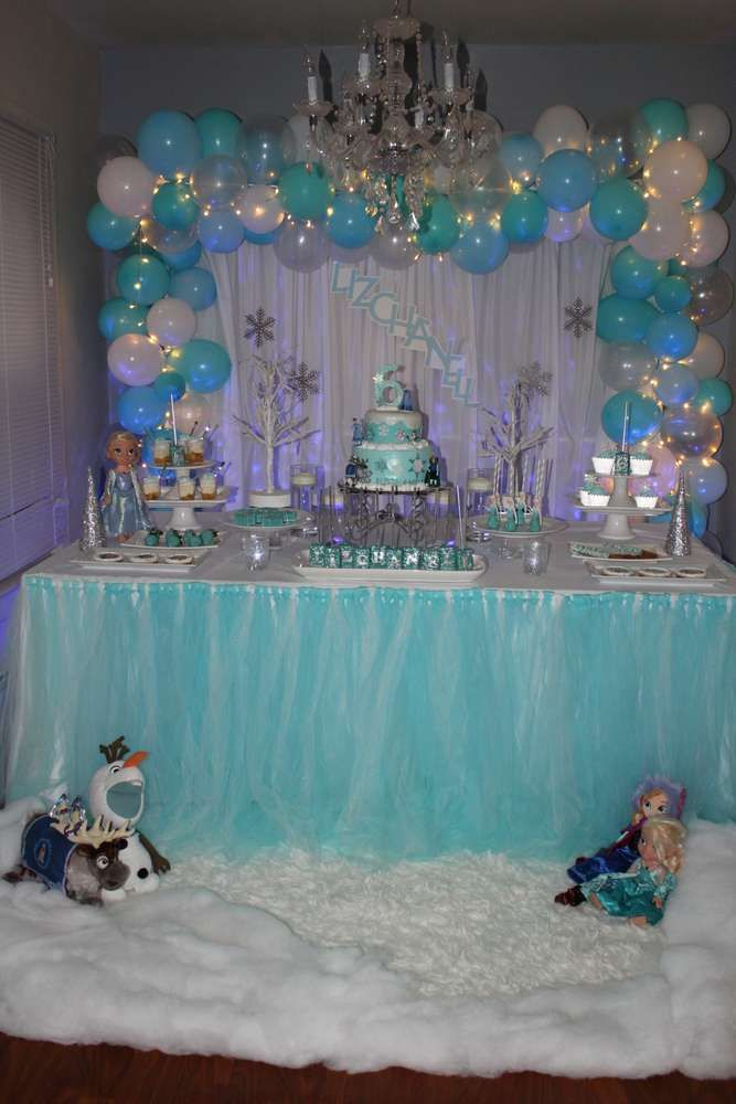 Lizchanell S Frozen Birthday Party Catchmyparty Com