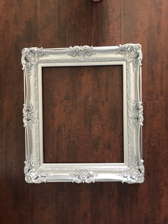 16x20 Wedding Silver Frame Baroque Mirror Shabby Chic Frame For