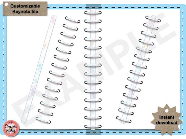 Digital binder rings marble pastel digital keynote file for For planner