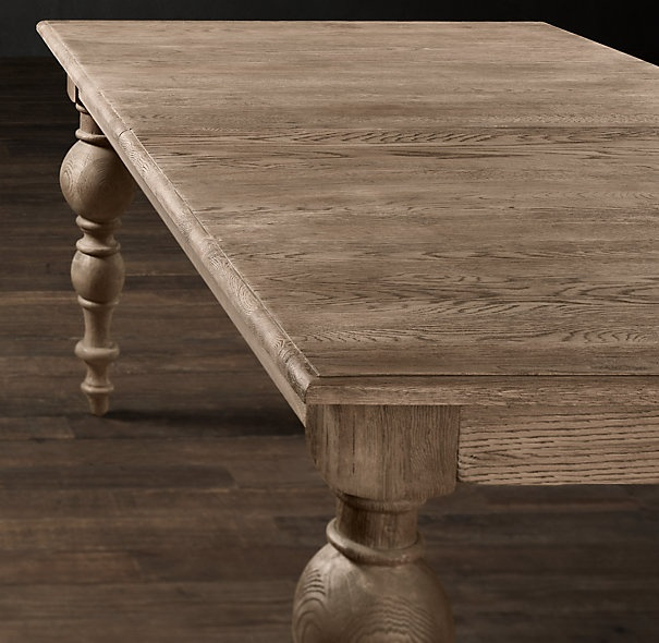 Grand Baluster Rectangular Extension Dining Table Home