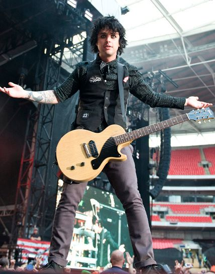 Billie Joe Armstrong...I used to have a major crush on him. Now it's on his *older* music