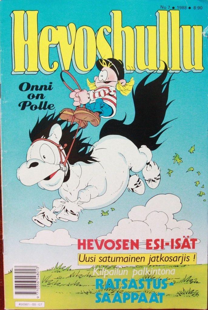 Hevoshullu ja Polle sarjikset! Finnish horse enthusiast magazine for kids/teens