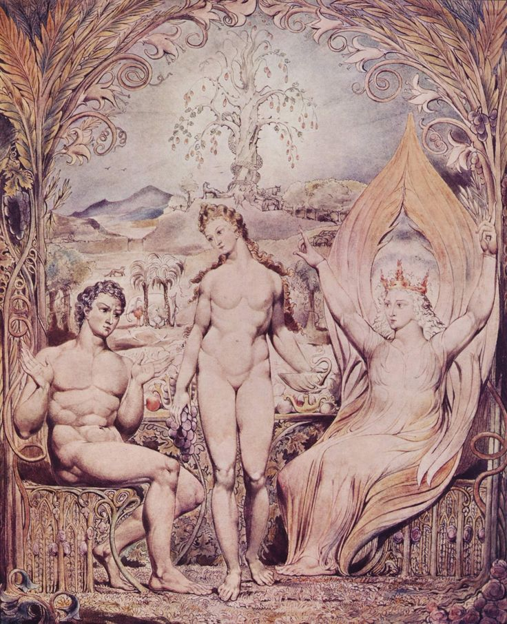 Archangel Raphael with Adam and Eve - William Blake