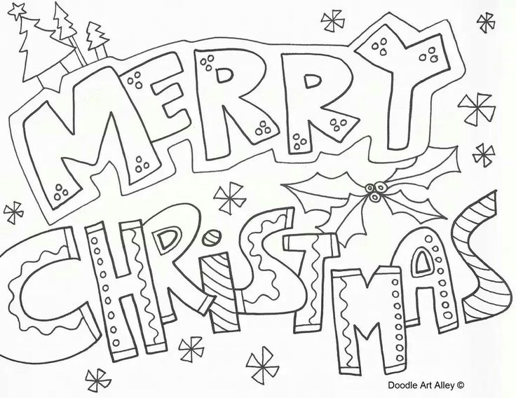 Free Christmas Coloring Pages At Celebration Doodles A Doodle Art Alley Website