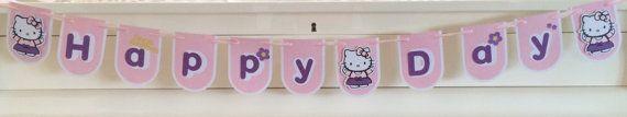 Hello Kitty Banner - Hello Kitty room decoration