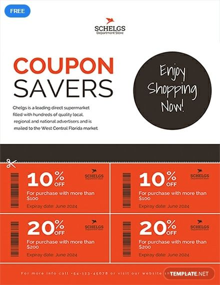 Free Sample Coupon Flyer Creative Promotional Flyer designs
