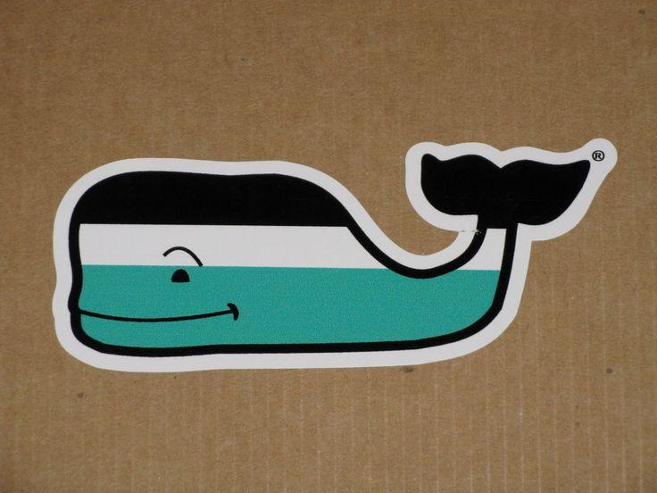 Whale vineyard vines nautical stripe vinyl sticker decal for Whale emblem on shirt