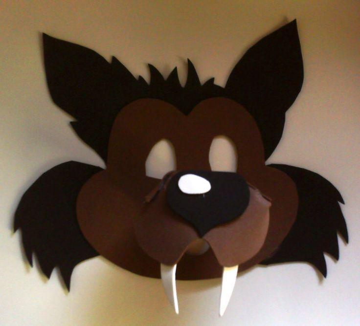 Resultado de imagem para molde mascara lobo