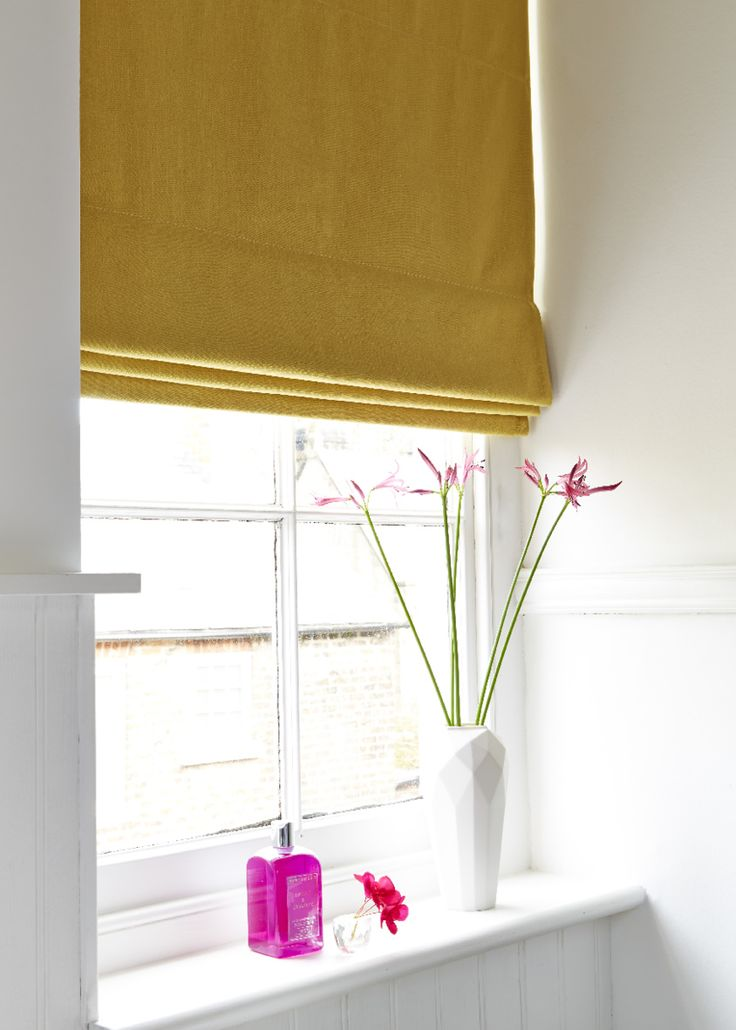 Simple And Stylish The Tetbury Mustard Made To Measure Roman Blind Can Add A Pop Of Colour To