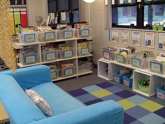 classroom library...im so doing this :]  using dishwashing tubs is a great idea