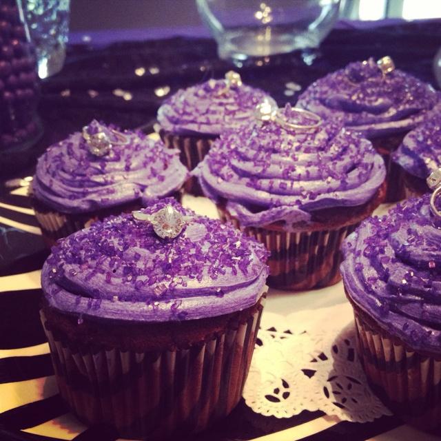 Lingerie shower cupcakes