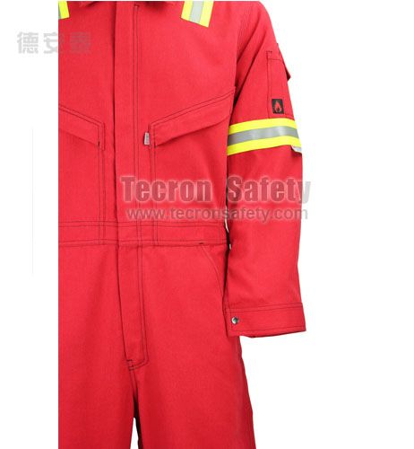 Tecasafe® plus 700 Coverall-A110E3011-Shenzhen Tecron Safety Co Ltd ppe personal protective clothing work wear work uniform flame resistant clothing FR garment Fire suit firefighting garment coverall jacket shirt pants bib overall FR cotton  aramid clothing modacrylic winter garments metalsplash resistant workwear FR hood