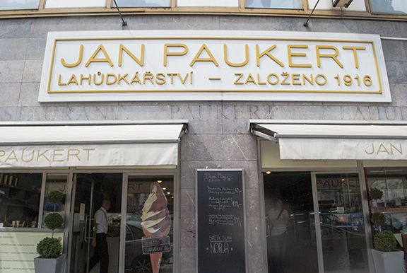 Lahůdkářství Jan Paukert in Praha, Hlavní město Praha. Great little deli that sells open faced sandwiches! I ate there for lunch today and got two sandwiches. One side is the deli, the other is the bakery. After eating my sandwiches I got myself a tart and an expresso. They were delicious! And light, so they didn't slow me down in the afternoon (like many traditional Czech meals might).It all only cost me 113 Kc which is equivalent to about $5.60. Pretty great deal for all that!