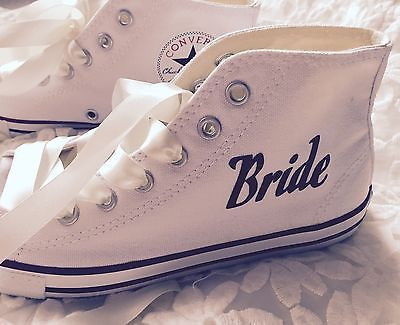 Vintage Style Wedding Converse For Brides, Bridesmaids, Personalised