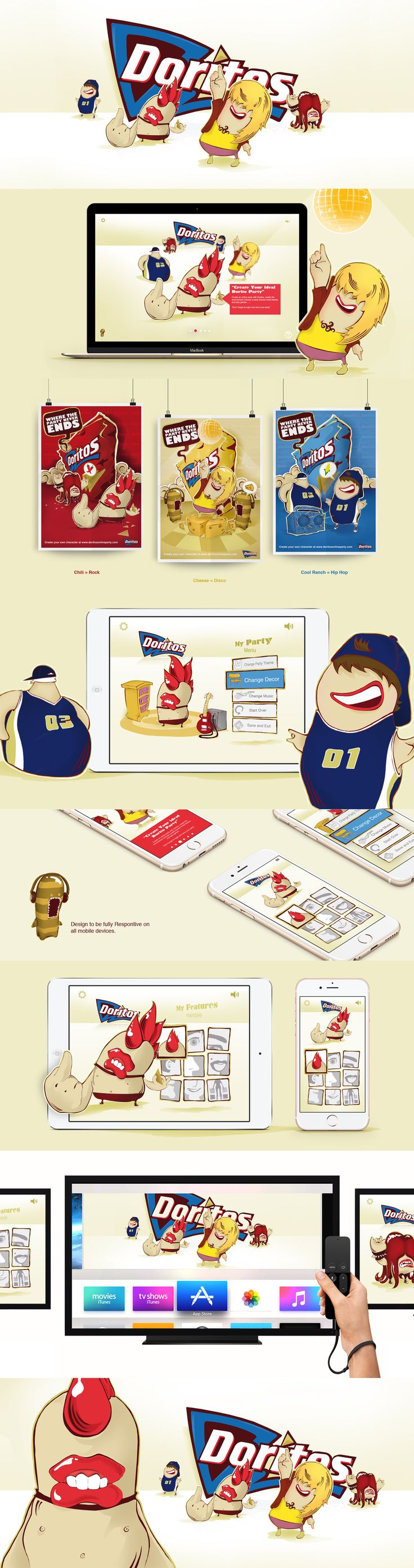 "Come check out ""Doritos"" Web Design & Illustration by Emblem, Visit www.emblem.ie for more projects"