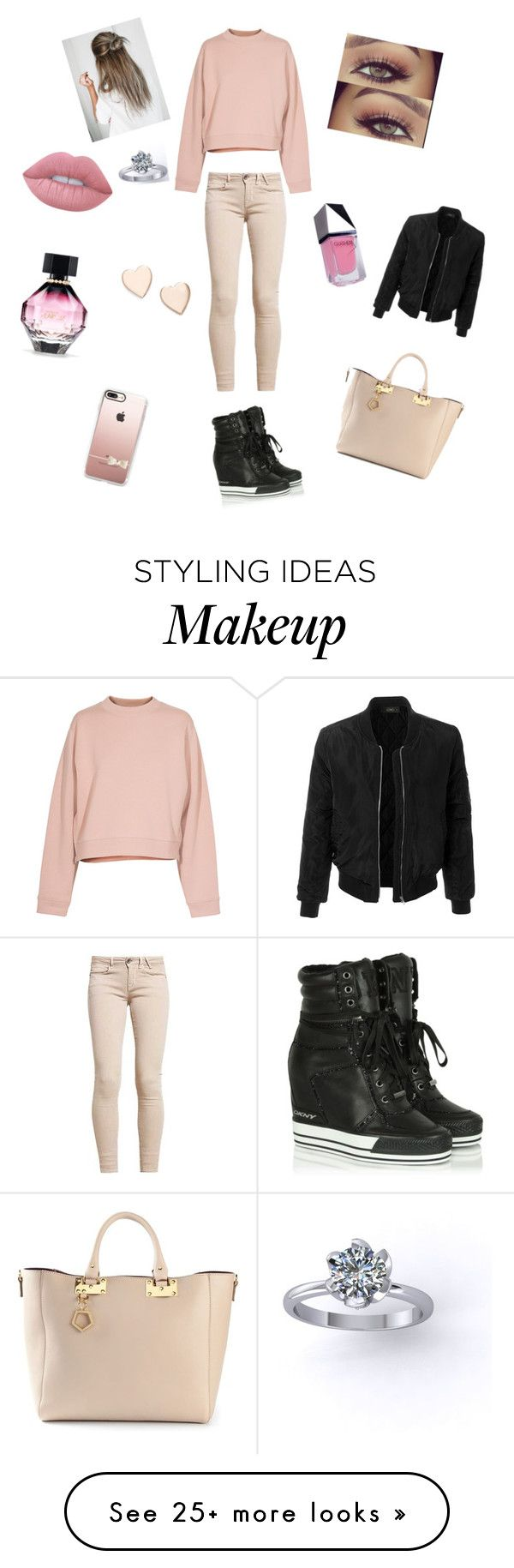 """""""Basic winter look❄️"""" by noavdbergex on Polyvore featuring Acne Studios, DKNY, Lime Crime, Sophie Hulme, Casetify, Poppy Finch, Victoria's Secret, LE3NO and GUiSHEM"""