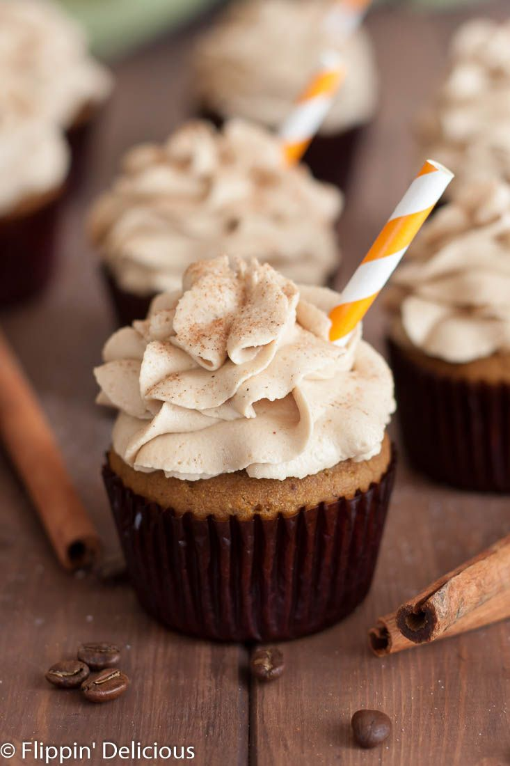 With these Gluten Free Pumpkin Spice Latte Cupcakes with Coffee Frosting you…