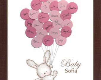 Baby Shower Guest Book Alternative Print door SayAnythingDesign