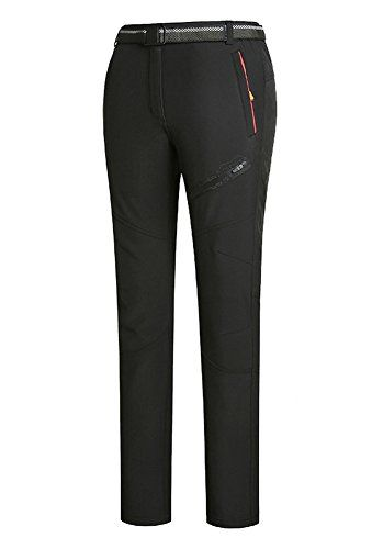 Chickle Womens Oudoor Hiking Sportwear Waterproof Winter Fleece Pants Black -- Details can be found by clicking on the image.