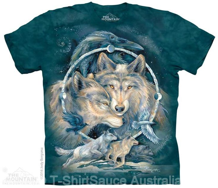 In Spirit I Am Free Wolf Adults T-Shirt : Animal Collections : Wolf T-Shirts : T-Shirtsauce Australia: The Mountain T-Shirts
