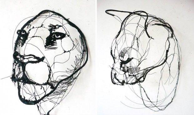 sculptures fils de fer par David Oliveira