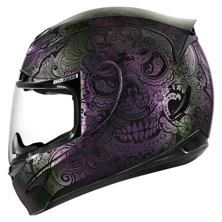 Chantilly Opal Purple Helmets Icon Motosports Ride
