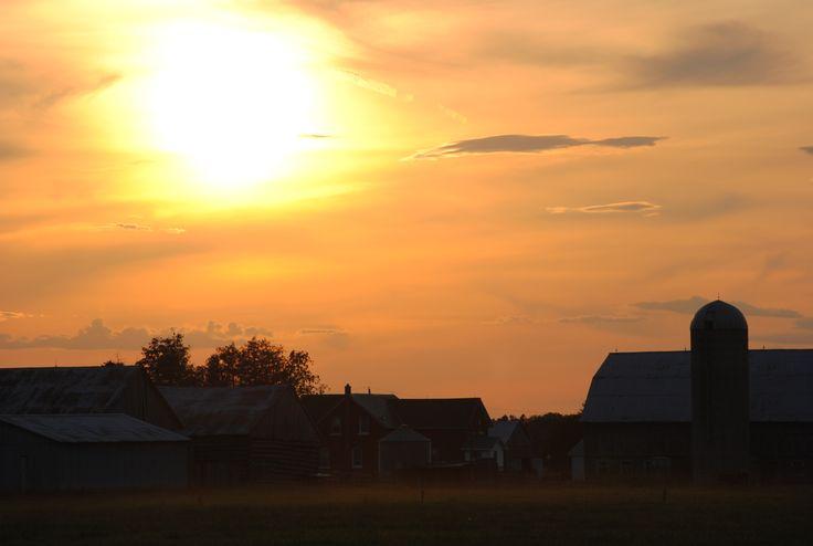 Sunset at farm, Pakenham, ON