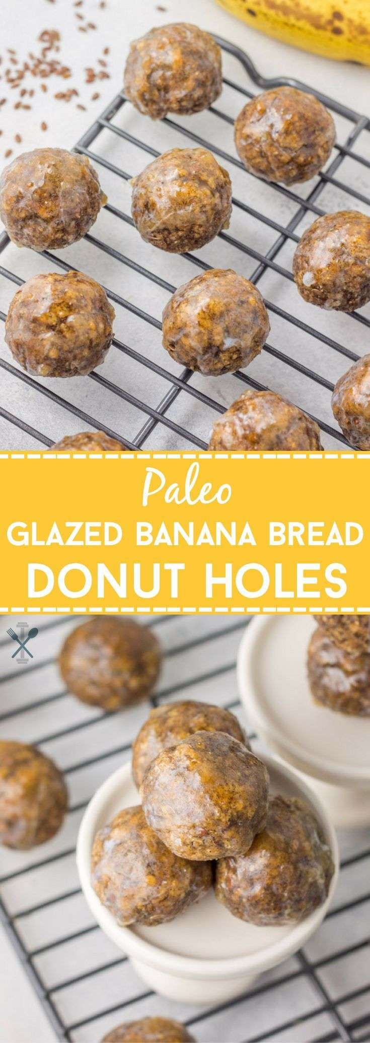 These baked, paleo donut holes tasted just like banana bread, with a perfectly glazed honey vanilla outer shell. Delicious, healthy, and so simple to make!