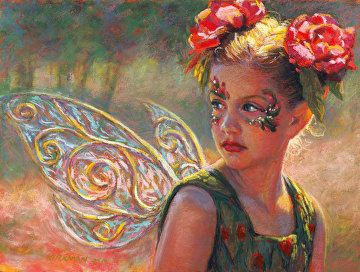 Fairy Rose by Rita Kirkman Pastel ~ 9 x 12 inches