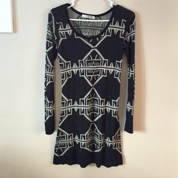 Aztec Print Dress Aztec Print Dress - Perfect simple winter dress Say What? Dresses Long Sleeve