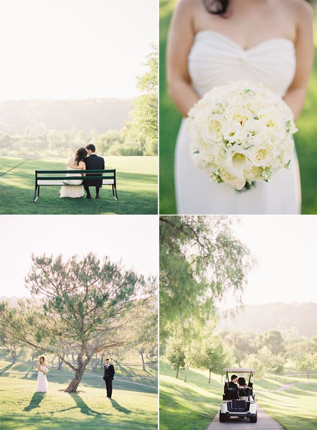 good light + golf course = beautiful bride and groom portraits