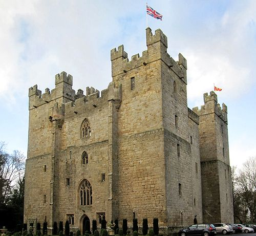 Langley CastleLangley, Northumberland, England.  Langley Castle is a restored medieval tower house, situated in the valley of the River South Tyne south of Haydon Bridge,The south west tower boasts 12 garderobes, four to each floor.It is a Grade I listed building.