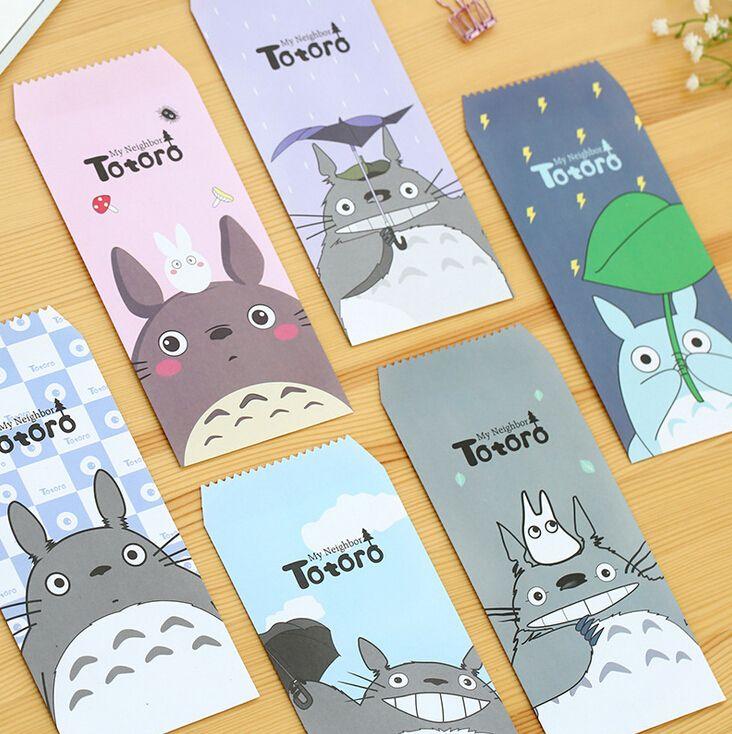 Encontrar Más Sobres de papel Información acerca de 5 unids/pack linda Totoro de dibujos animados de mensaje sobre carta estacionario almacenamiento del papel de regalo, alta calidad papel de envolver regalos, China regalos de américa Proveedores, barato bolsa de regalo de papel de House of Novelty en Aliexpress.com