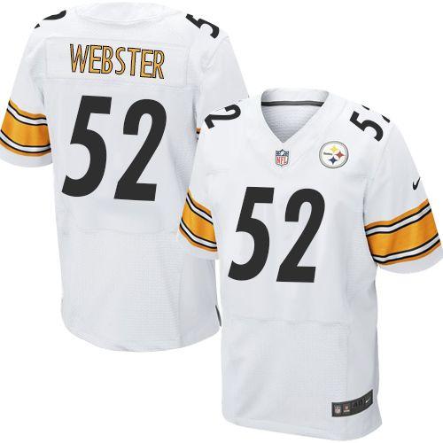 Mike Webster Men's Elite White Jersey: Nike NFL Pittsburgh Steelers Road #52