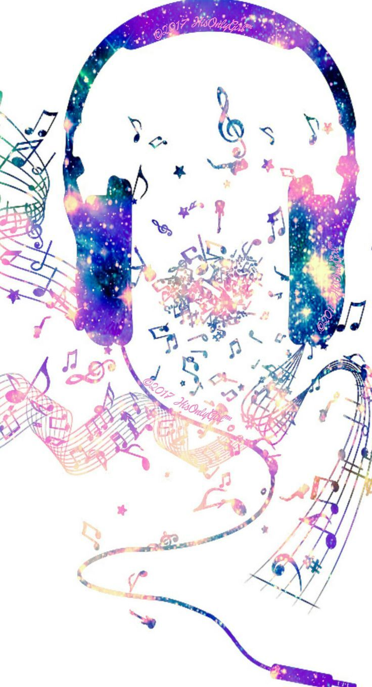 Music headphones galaxy iPhone/Android wallpaper I created