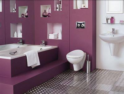 pas de sparation wc baignoire couleur dun ct et blanc de l - Separation Baignoire Wc