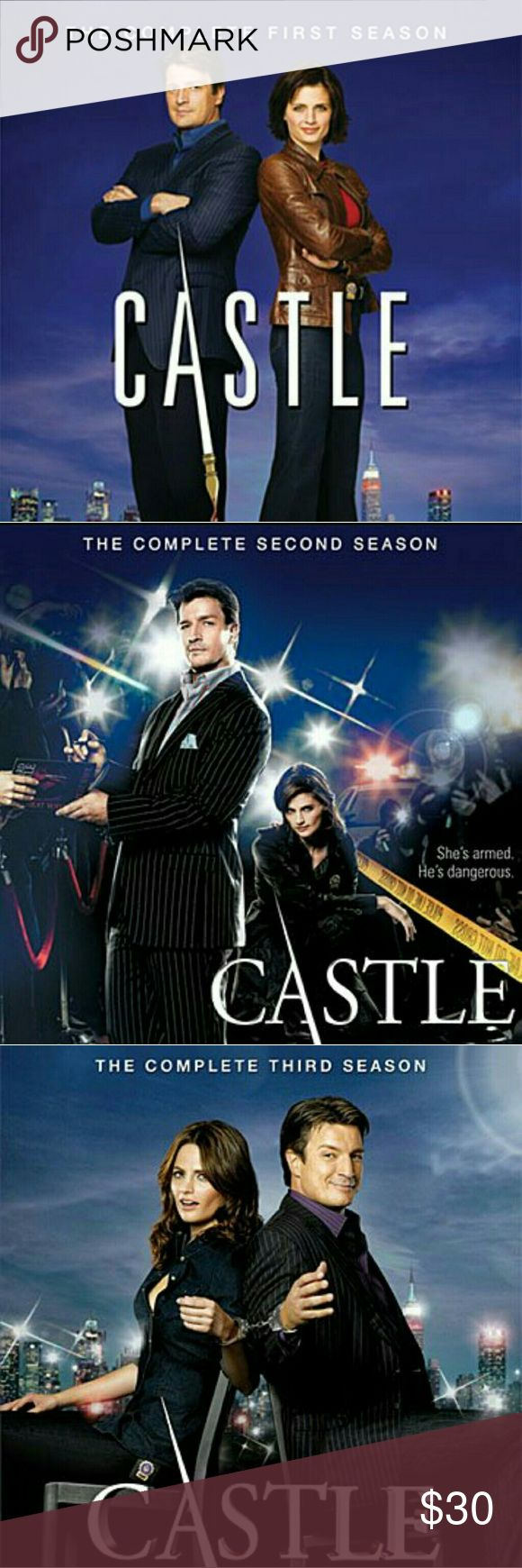 Seasons 1 - 3 of Castle on DVD Seasons 1 - 3 of Castle on DVD. Not in the original case, no case label or pamphlet. Not burned copies, like new DVDs, US region code. Other