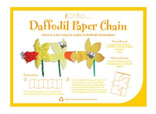 Using our fantastic daffodil paper chain craft template, your child can produce their very own St. David's Day decoration!