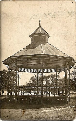 Postcard labelled Rotunda, Lake Marma, Murtoa, sent c1909. From Flickr