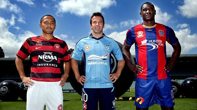 The big three - Shinji Ono , Alessandro Del Piero and Emile Heskey - are ready for their A-League debuts. Pic Gregg Porteous Source: The Daily Telegraph