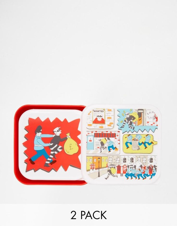 Cath Kidston | Cath Kidston Stop Thief Set of 2 Sandwich Boxes at ASOS
