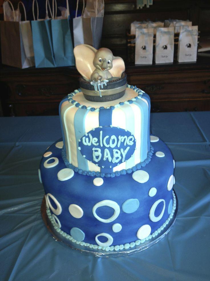 Superb Dumbo Baby Shower Cake. I Found The Figurine On EBay.