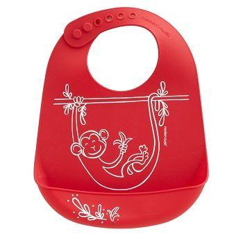 Monkey Business Bib Red $39.95 #sweetcreations #baby #toddlers #kids #feeding #feedme